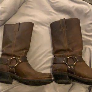 Frye harness boots!!